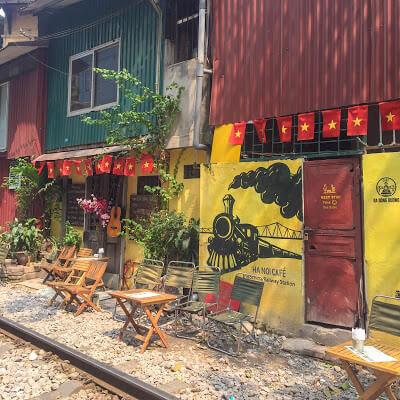 Train street hanoi vietnam