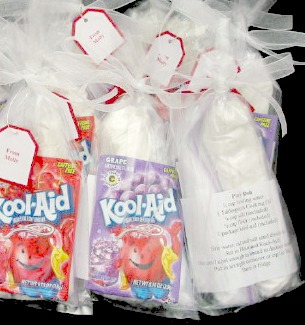 Playdough Kool-Aid Valentine packages