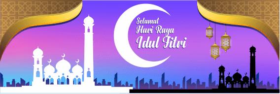 Kumpulan Desain Spanduk Ucapan Selamat Hari Raya Idul Fitri 2020