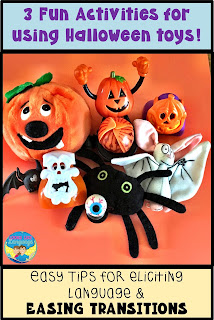 Ideas for how to incorporate fun Halloween toys finds in your therapy sessions.