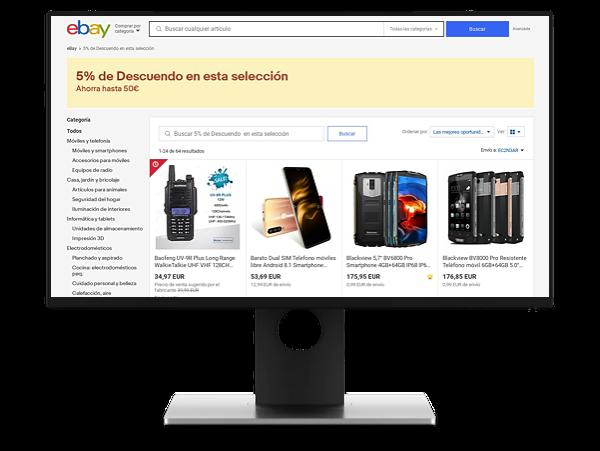 Cupones de descuento para eBay