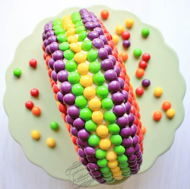 gâteau arc-en-ciel aux skittles : il était une fois la pâtisserie