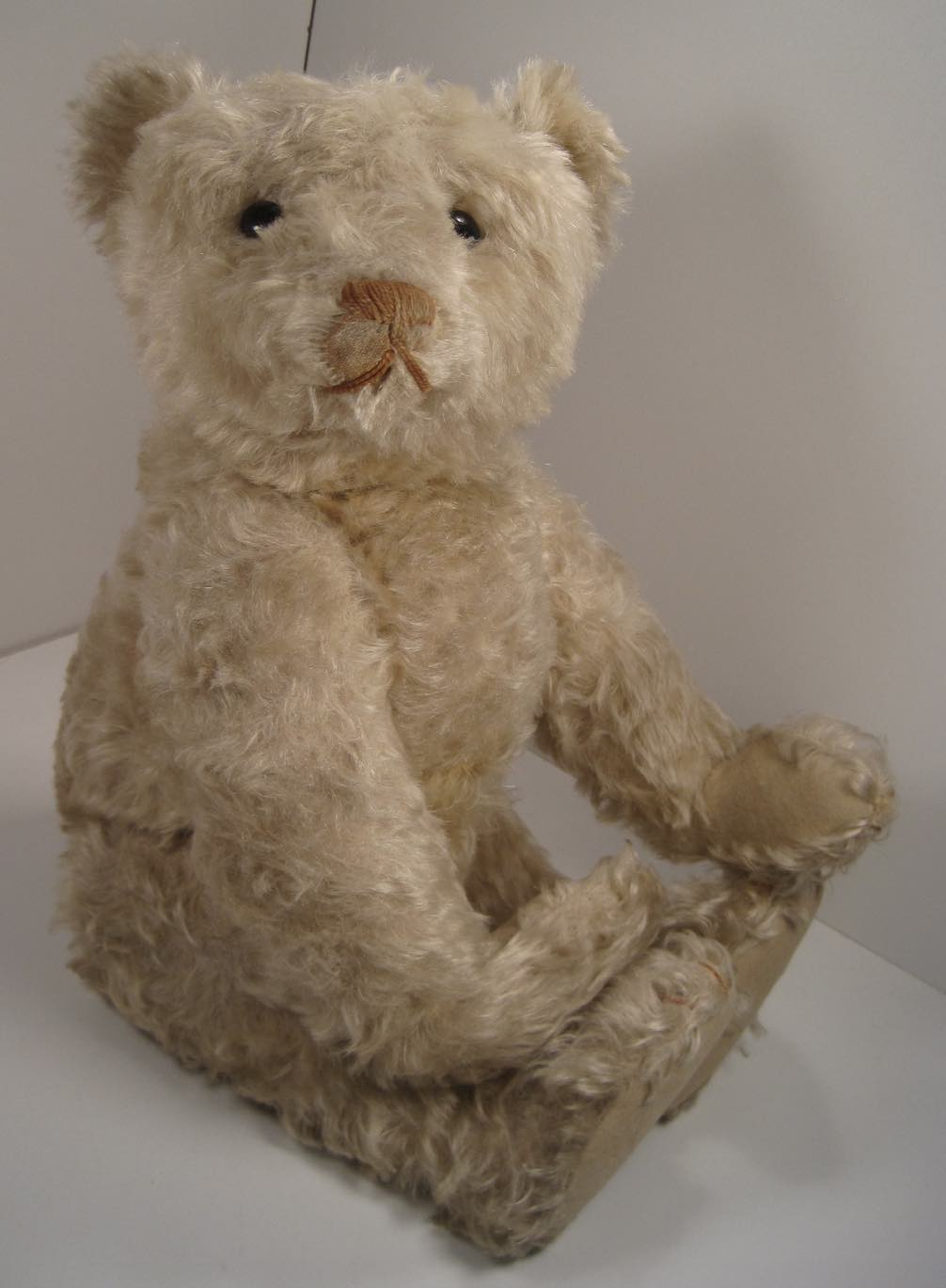 Steiff Bear Rare Black Mohair Vintage Glass Eyes Jointed Miniature Knopf Button Cleaning The Oral Cavity. Bears