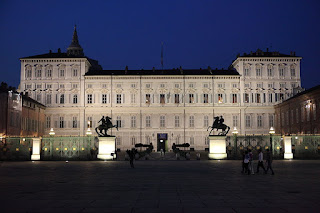 The Palazzo Reale in Turin, by night