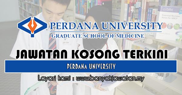 Jawatan Kosong 2018 di Perdana University