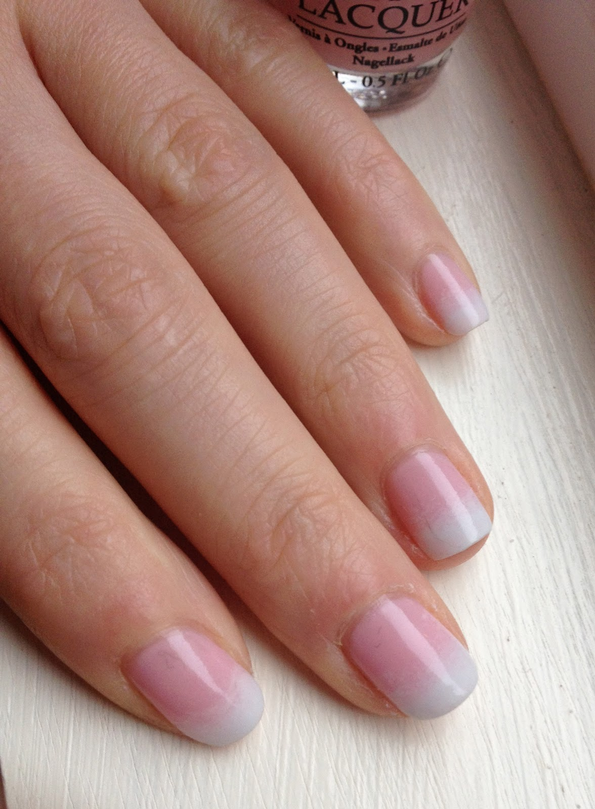 Gradient French Manicure: Nails By KayBel: NOTD