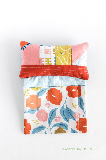 Sit 'n Sew Pincushion featuring Rollakan collection from FIGO fabrics | 7 handmade gift ideas for mother's day | Shannon Fraser Designs
