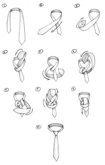 How to Tie A Tie : A WINDSOR KNOT