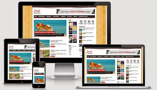 Membuat sebuah website yang menarik dengan  10 Template Blog Seo Friendly Responsive Gratis