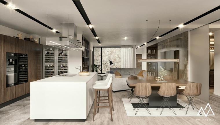 Diseño de cocinas - 102 nuevas tendencias de cocinas modernas