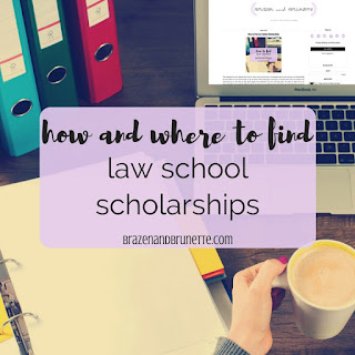 top blog posts of 2017 #10 - how to find law school scholarships | brazenandbrunette.com