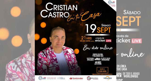 Cristian Castro dará su primer show virtual lleno de gran música