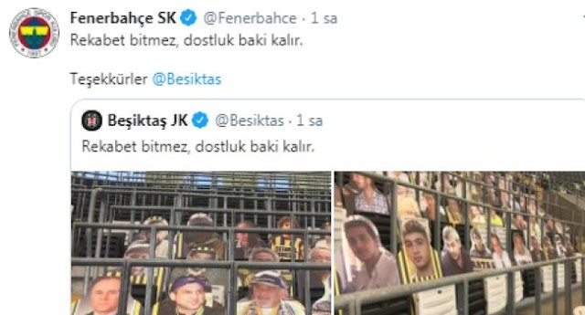 Beşiktaş-Fenerbahçe derbisi öncesi dostluk mesajları