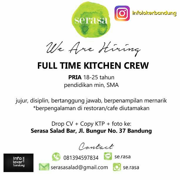 Lowongan Kerja Serasa Salad Bar Bandung April 2017