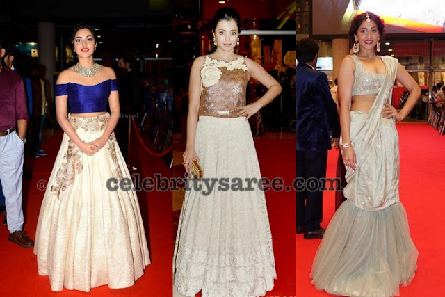Amala Paul Trisha Regina at SIIMA awards