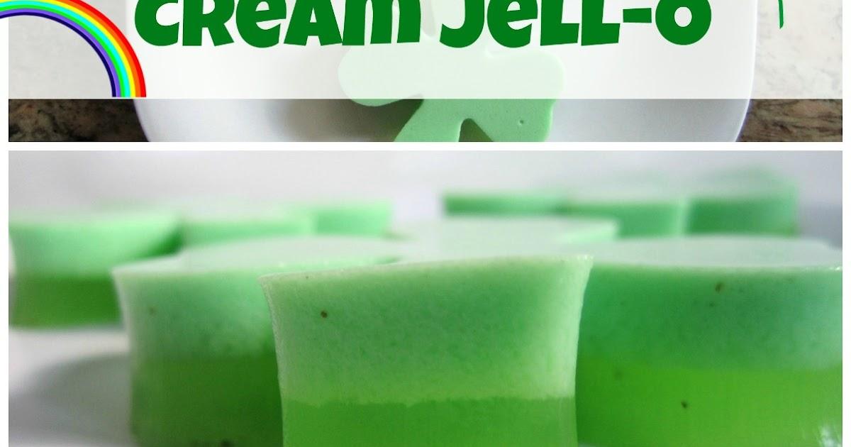 Shamrock Ice Cream Jello
