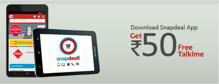 SNAPDEAL offer GET RS. 50 RECHARGE FREE nkworld4you