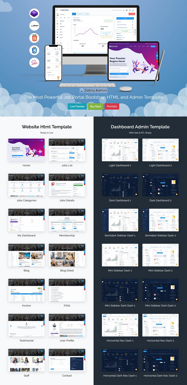 Career Admin Dashboard Bootstrap HTML Template