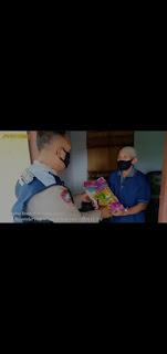 Penyaluran Bansos Polres Nganjuk Kepada Masyarakat Terdampak PPKM Level 4