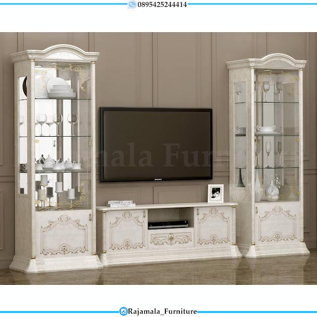 Harga Bufet TV Mewah Luxury Classic Carving Furniture Jepara RM-0511