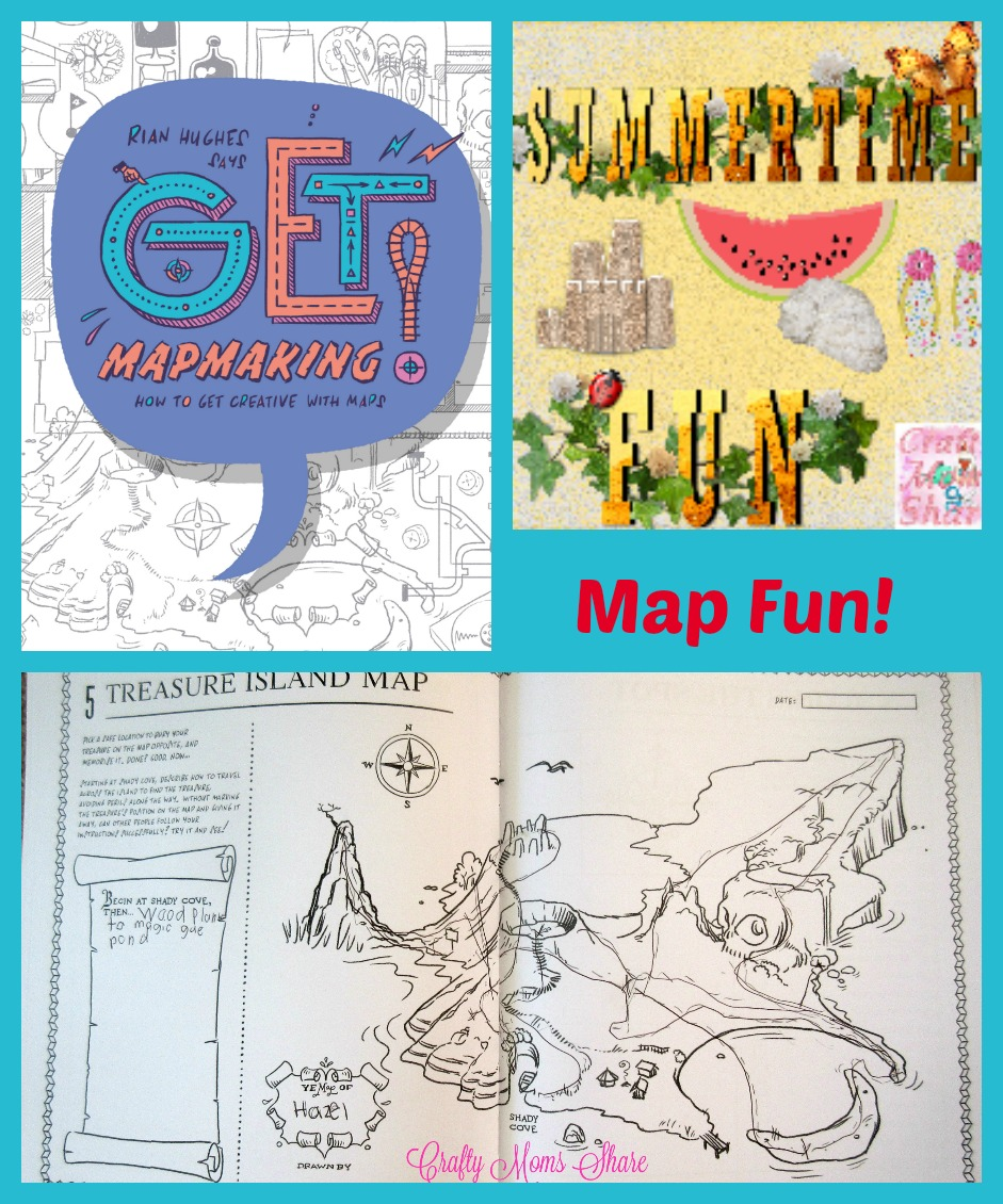 Crafty Moms Share: Get Mapmaking -- Map Fun for Summertime Fun! on make your map, make map showing locations, make a country map, treaser map, diy map, make your own, make a map in minecraft, a drawn made up for a country map, draw a neighborhood map, make a neighborhood map, making a map, make a life map, my father's dragon map,