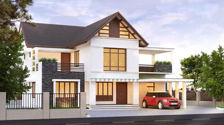 Beautiful Simple contemporary mix 4 Bed 2200 sq ft villa