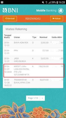 Bukti Pembayaran Uang Gratis Terbaru dari Aplikasi Veeu Android