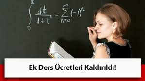 Öğretmenlere ek ders ücreti kaldırıldı