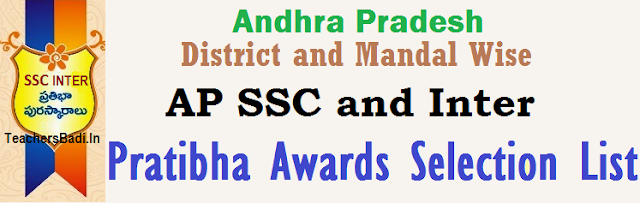 Districts,Mandals,Pratibha Awards Selected List 2015
