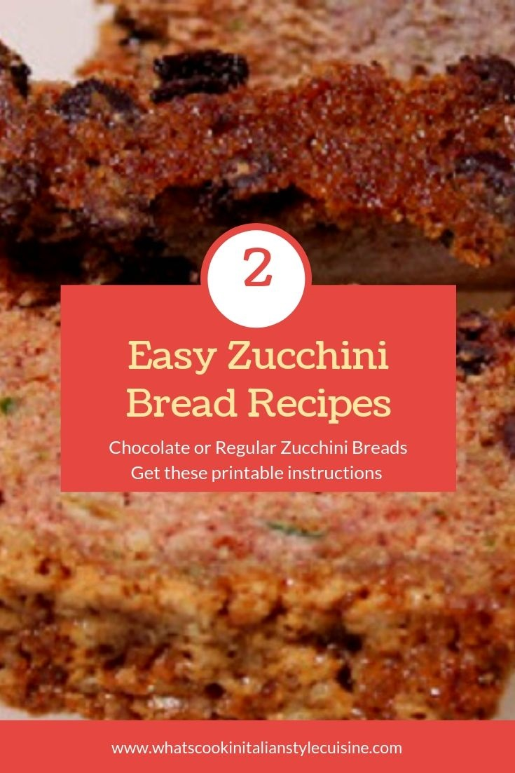 this is a loaf of regular zucchini bread pin for later recipe