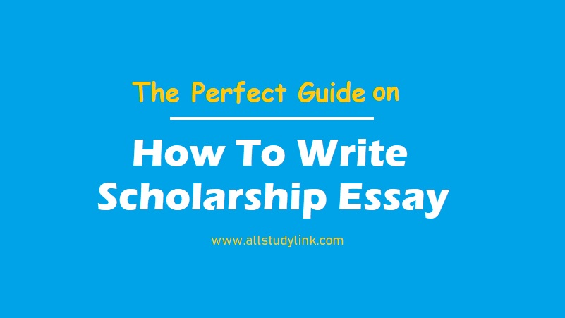 How To Write Scholarship Essay