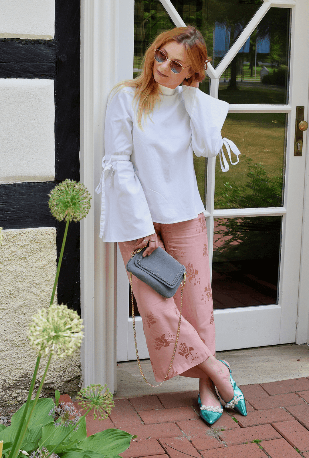 Modeblogger Outfit mit Culotte und Bluse, Streetstyle