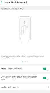 Cara Split Screen OPPO A92