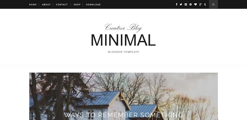 Minimal Free Blogger Template