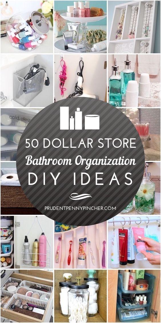 Dollar Store Bathroom Organization Idea