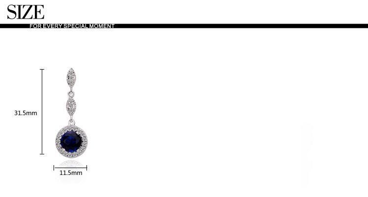 華麗宮廷風藍 3A級鋯石?耳環