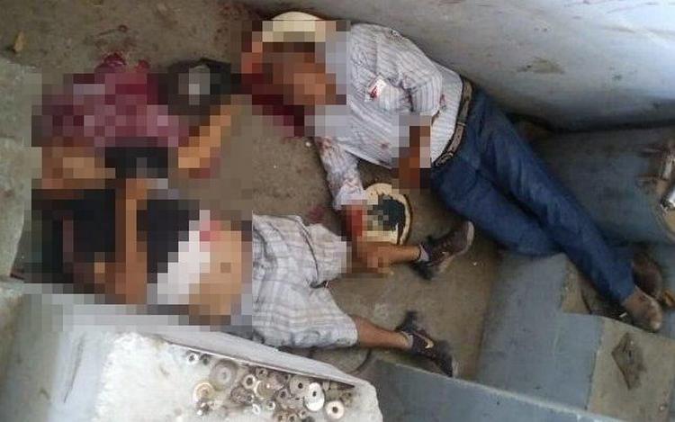 Fotos, Motosicarios rafaguean a dos sujetos en taller mecanico en Cd. Obregon, Sonora; dejan un ejecutado y un herido