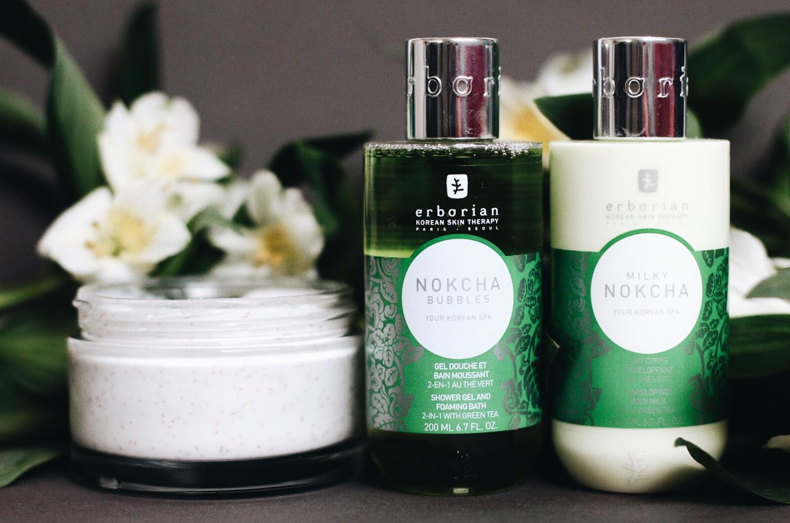 erborian bain coreen nokcha gel douche lait corps scrub corps magnolia avis test
