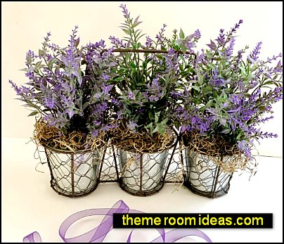 Lavender flower arrangement - french country home decor - Mediterranean style housewarming gift