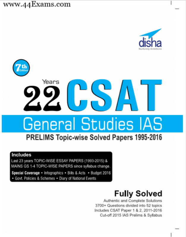 Disha-Publication-General-Studies-IAS-PRELIMS-Topic-wise-Solved-Papers-1995-2016-PDF-Book