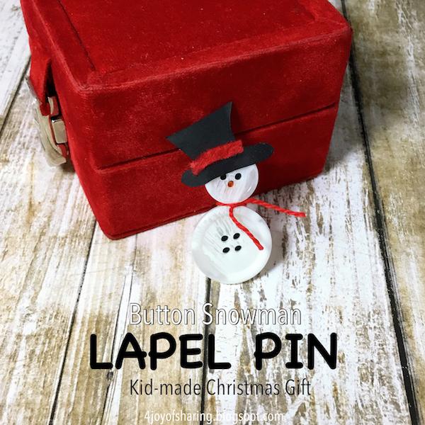 Snowman Lapel Pin Christmas Craft The Joy Of Sharing