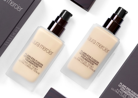 Laura Mercier Flawless Fusion Ultra-Longwear Foundation Review Photos Swatches Before After