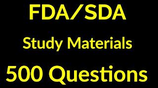 FDA/SDA 2019 MODEL QUESTION PAPERS(500 QUESTIONS)