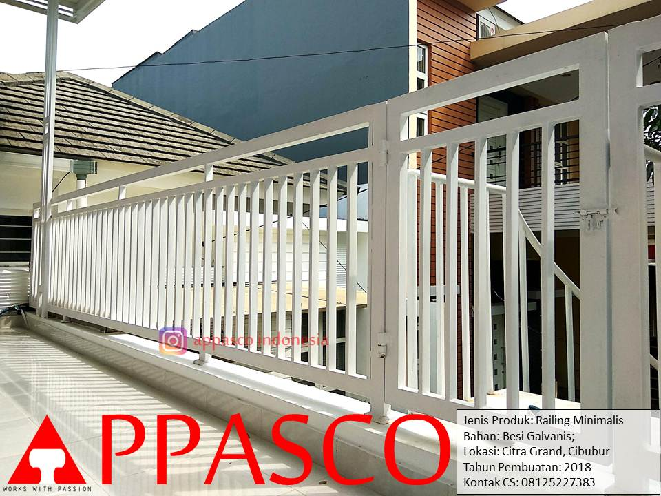 Railing Minimalis Balkon Di Citra Grand Cibubur Railing Balkon