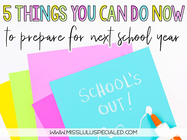 5 things you can do to prepare for next school year with colored paper and glue