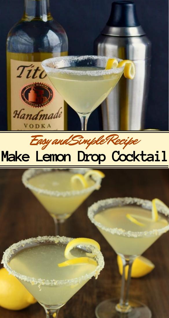 Make Lemon Drop Cocktail  #healthydrink #easyrecipe #cocktail #smoothie