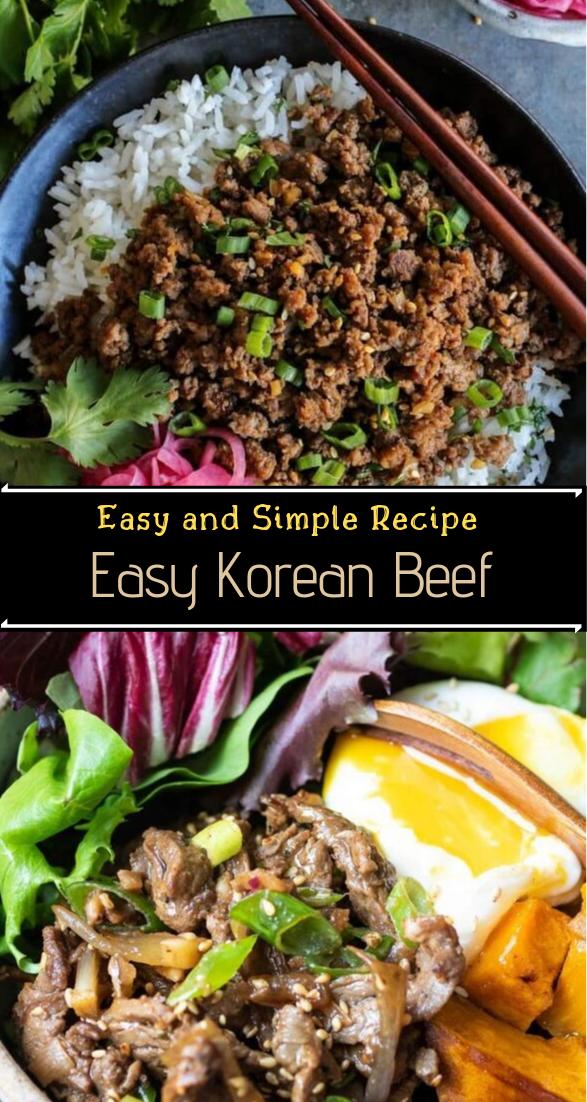 Easy Korean Beef #dinnerrecipe #food #amazingrecipe #easyrecipe