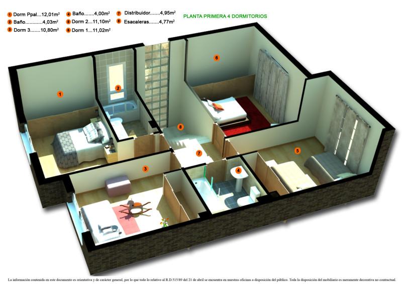 Desain 3D Denah Rumah Minimalis 2 Kamar Tidur Terbaru 2019 ...