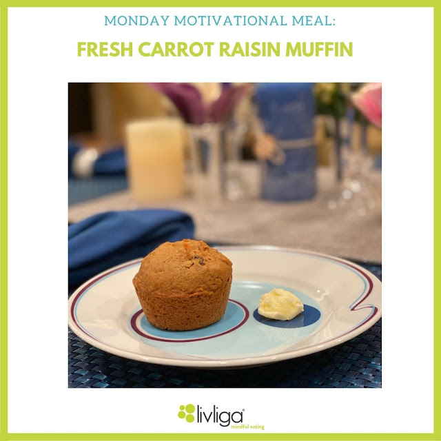 Monday Moitivational Meal—Carrot Raisin Muffin