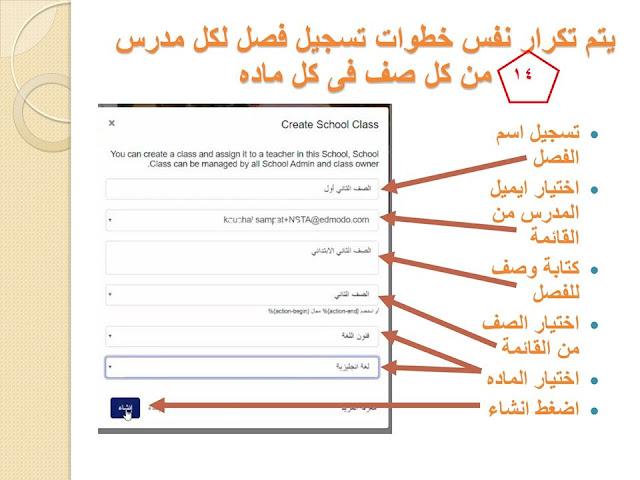 بالخطوات خطوات التسجيل على المنصة للمعلم والطالب وطريقة اعداد الطالب للمشروعات البحثية 14